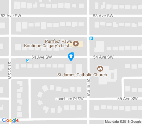 map of North Glenmore Park apartments for rent