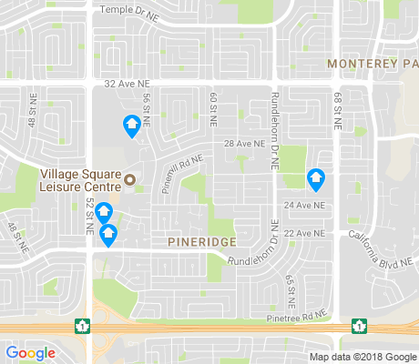 map of Pineridge apartments for rent