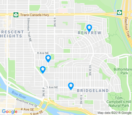 map of Renfrew apartments for rent