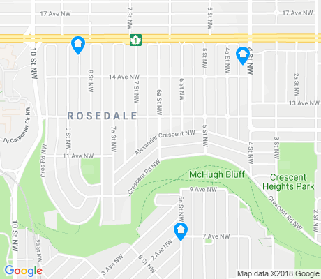 map of Rosedale apartments for rent