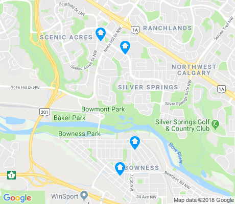 map of Silver Springs apartments for rent