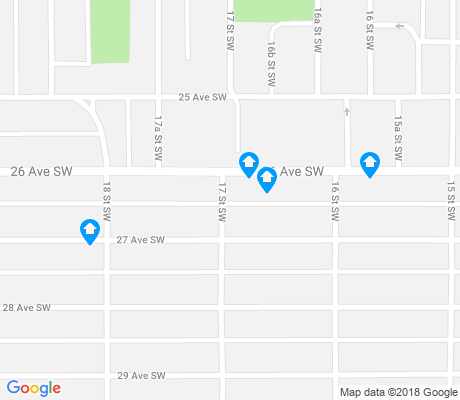 map of South Calgary apartments for rent