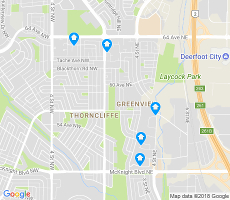 map of Thorncliffe apartments for rent
