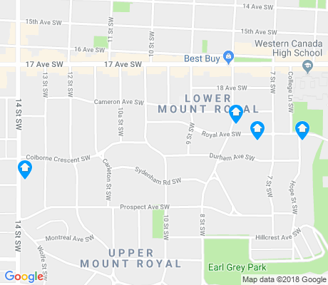 map of Upper Mount Royal apartments for rent