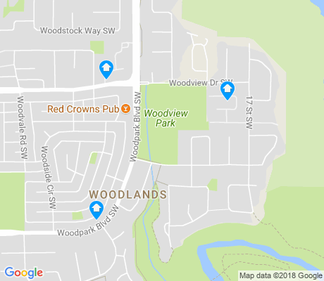 map of Woodlands apartments for rent