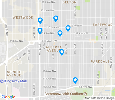 map of Alberta Avenue apartments for rent