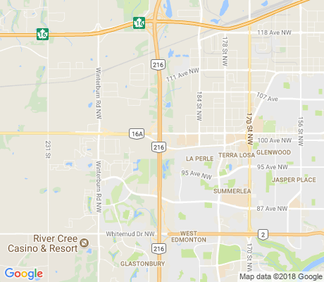 map of Anthony Henday apartments for rent