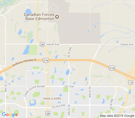 map of Anthony Henday Lake District apartments for rent