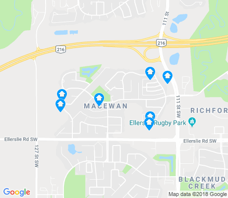 map of Anthony Henday South apartments for rent