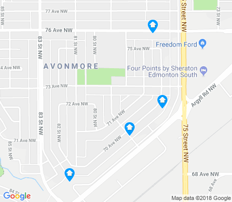 map of Avonmore apartments for rent