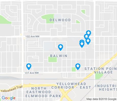 map of Balwin apartments for rent
