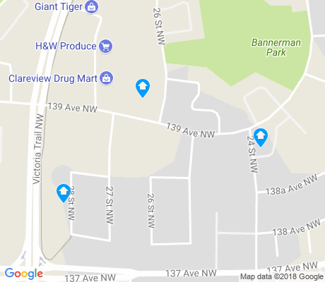 map of Bannerman apartments for rent