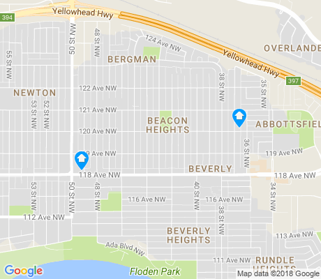 map of Beacon Heights apartments for rent