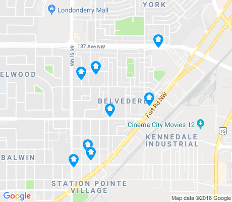 map of Belvedere apartments for rent