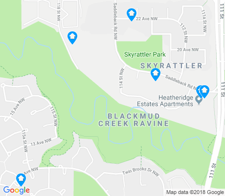 map of Blackmud Creek Ravine apartments for rent