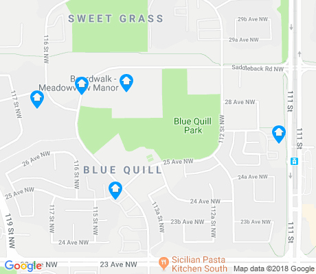 map of Blue Quill apartments for rent