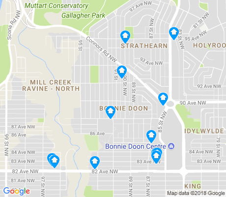 map of Bonnie Doon apartments for rent