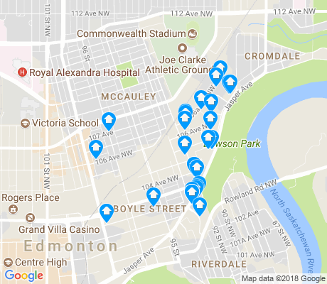 map of Boyle Street apartments for rent