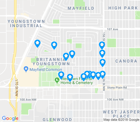 map of Britannia Youngstown apartments for rent