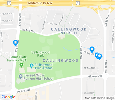 map of Callingwood North apartments for rent