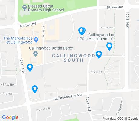 map of Callingwood South apartments for rent