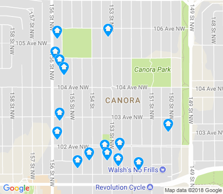 map of Canora apartments for rent