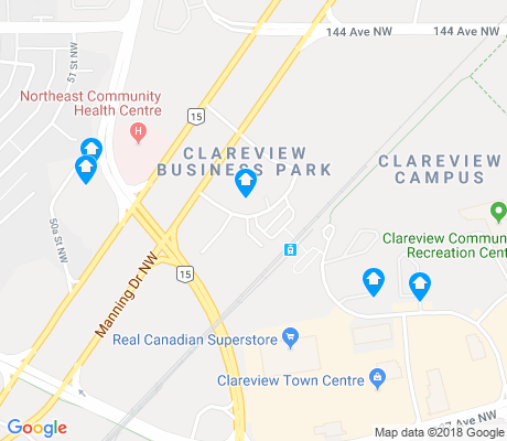 map of Clareview Business Park apartments for rent