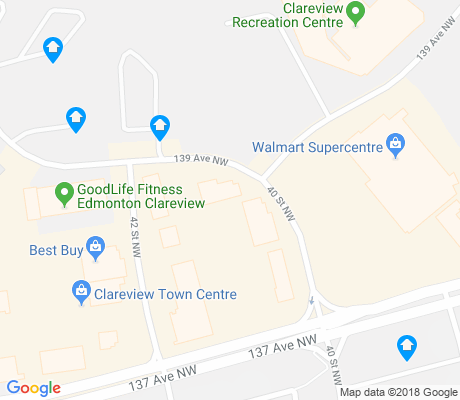 map of Clareview Campus apartments for rent
