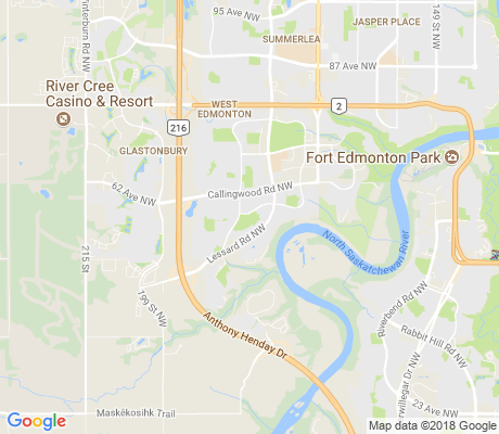 map of Dechene apartments for rent