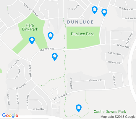 map of Dunluce apartments for rent