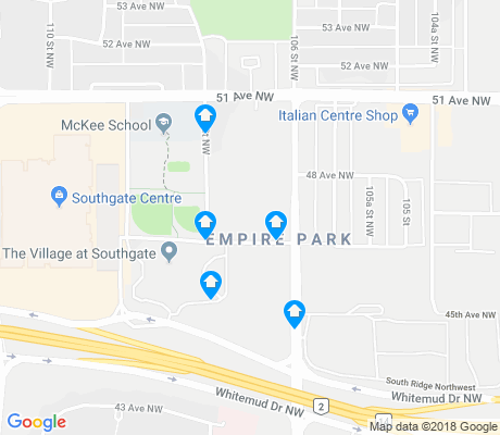 map of Empire Park apartments for rent