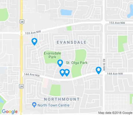 map of Evansdale apartments for rent