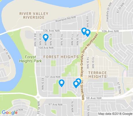 map of Forest Heights apartments for rent