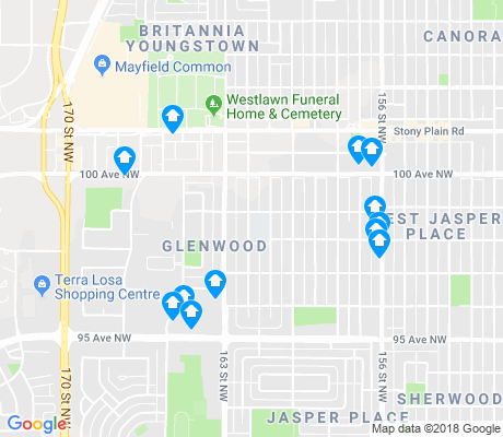 map of Glenwood apartments for rent