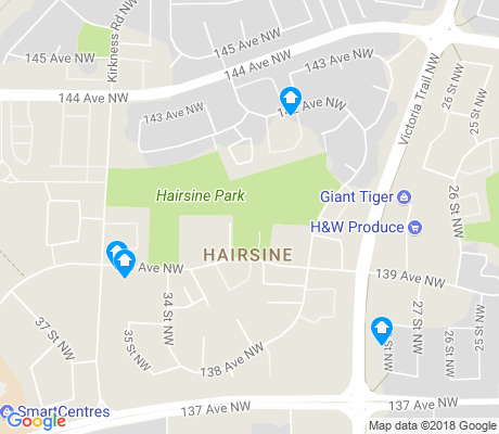 map of Hairsine apartments for rent