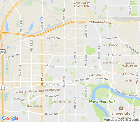 map of High Park apartments for rent