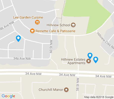 map of Hillview apartments for rent