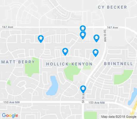 map of Hollick-Kenyon apartments for rent