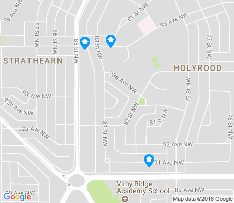 map of Holyrood apartments for rent