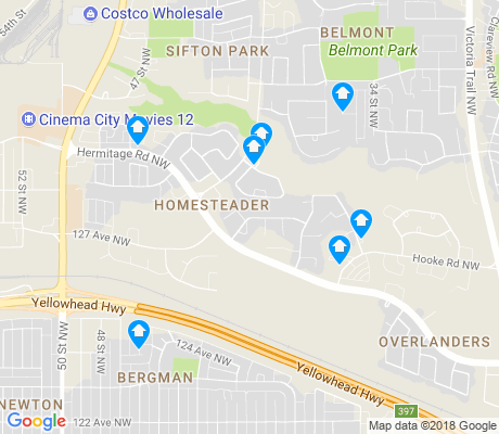 map of Homesteader apartments for rent