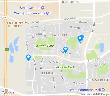 map of La Perle apartments for rent