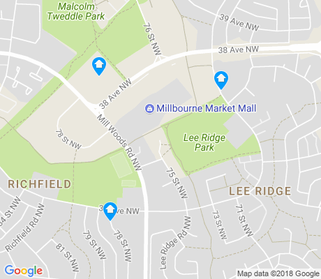 map of Lee Ridge apartments for rent
