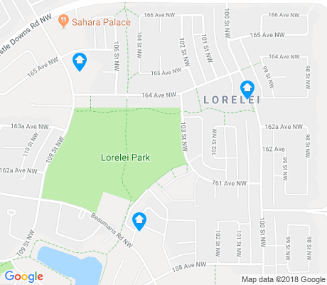 map of Lorelei apartments for rent