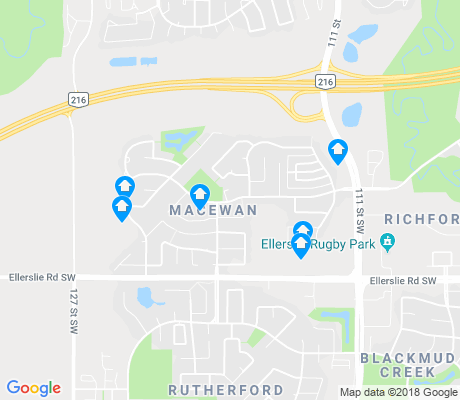 map of MacEwan apartments for rent