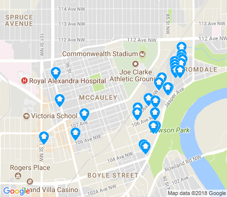 map of McCauley apartments for rent