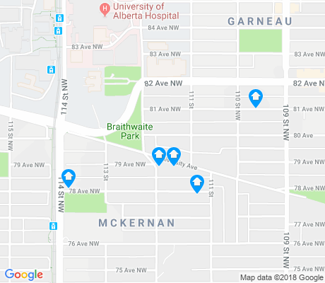 map of McKernan apartments for rent