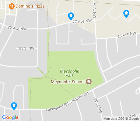 map of Meyonohk apartments for rent