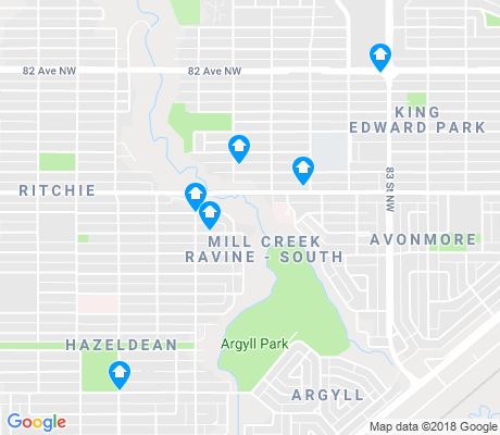 map of Mill Creek Ravine South apartments for rent