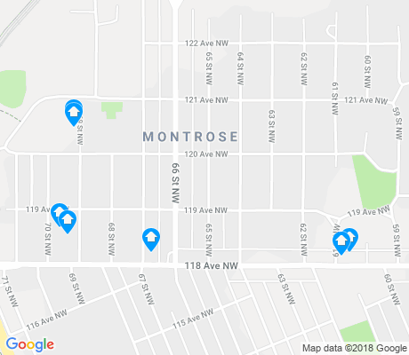 map of Montrose apartments for rent