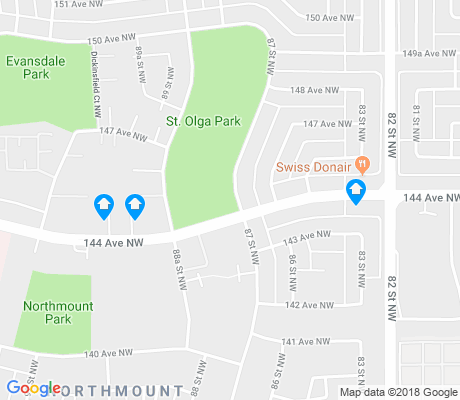 map of Northmount apartments for rent